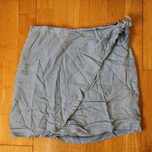 Blue Chambray/Denim Wrap Skirt
